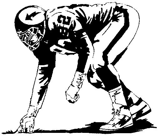 Football player clipart 2 football clip art black image 2.