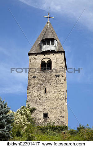 """Picture of """"Defense tower and belfry in the Kobern district of."""