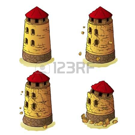 Defensive Tower Stock Vector Illustration And Royalty Free.
