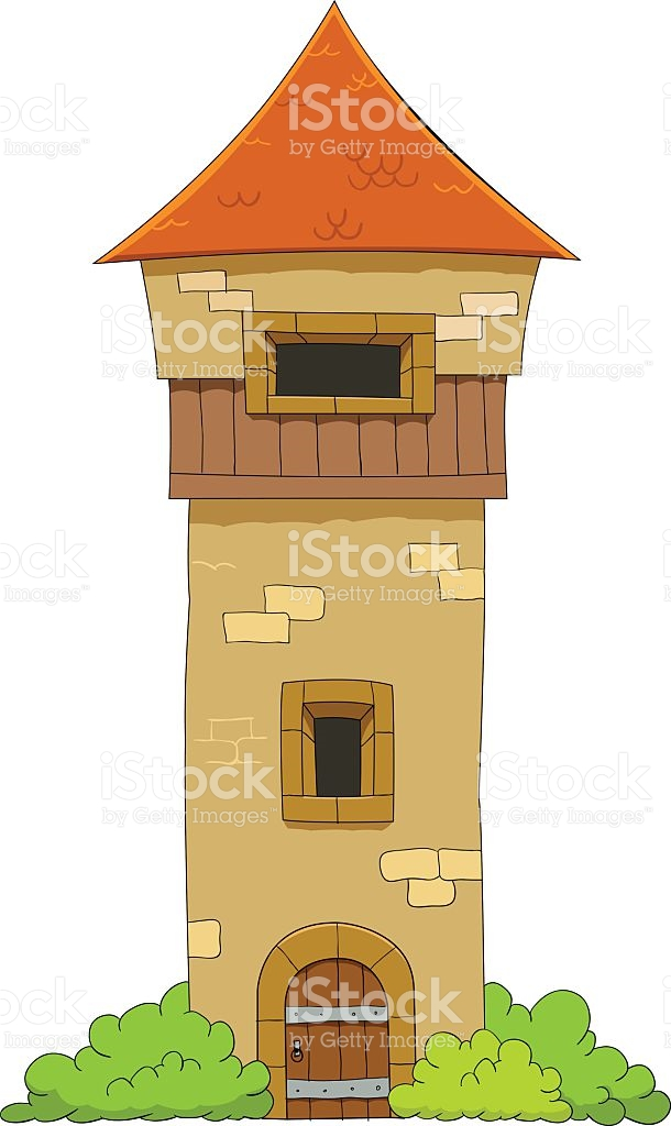 Old Defense Tower stock vector art 500611185.