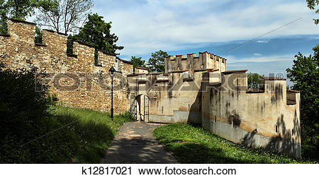 Stock Photography of Medieval defensive wall k12817021.
