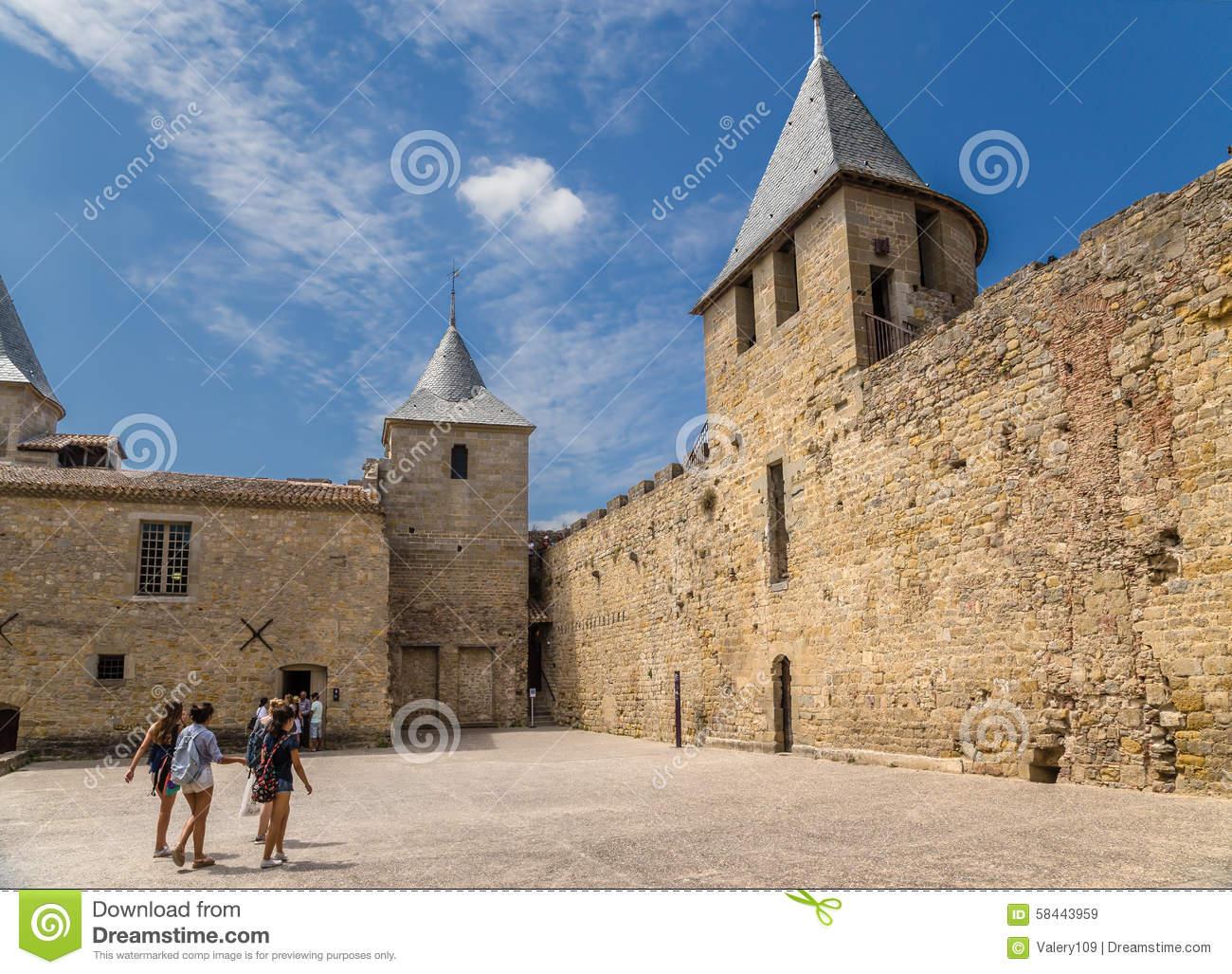 Castle courtyard wall clipart.