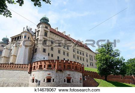 Picture of Defensive walls of Wawel castle k14678067.