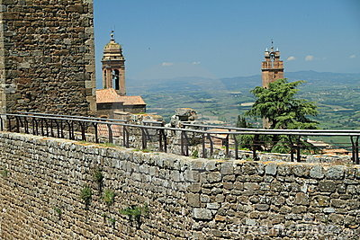 Defensive Walls, Italy Royalty Free Stock Image.