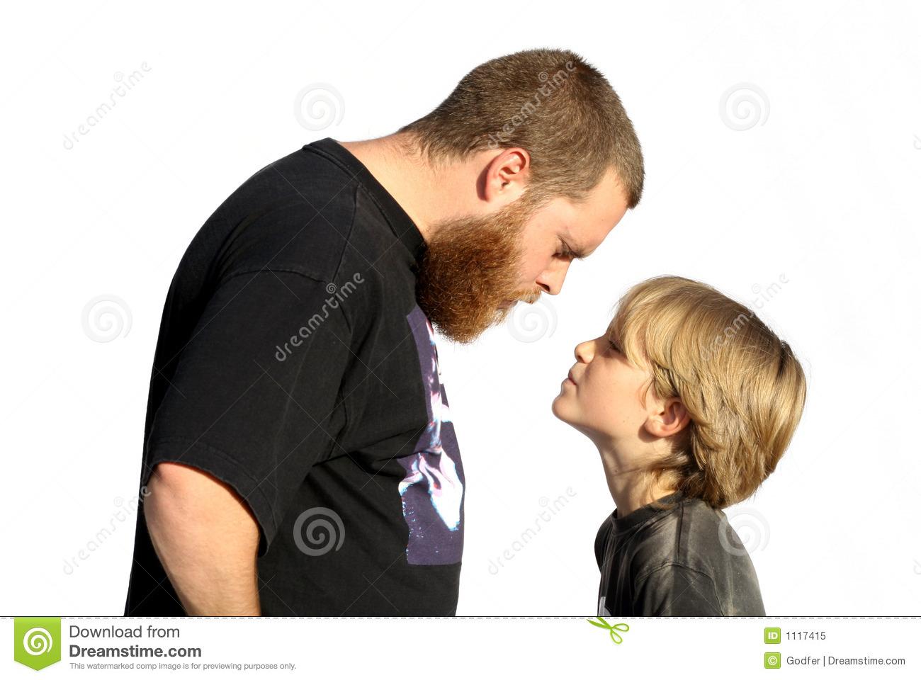 Family Confrontation, Defiant Child Royalty Free Stock Photo.