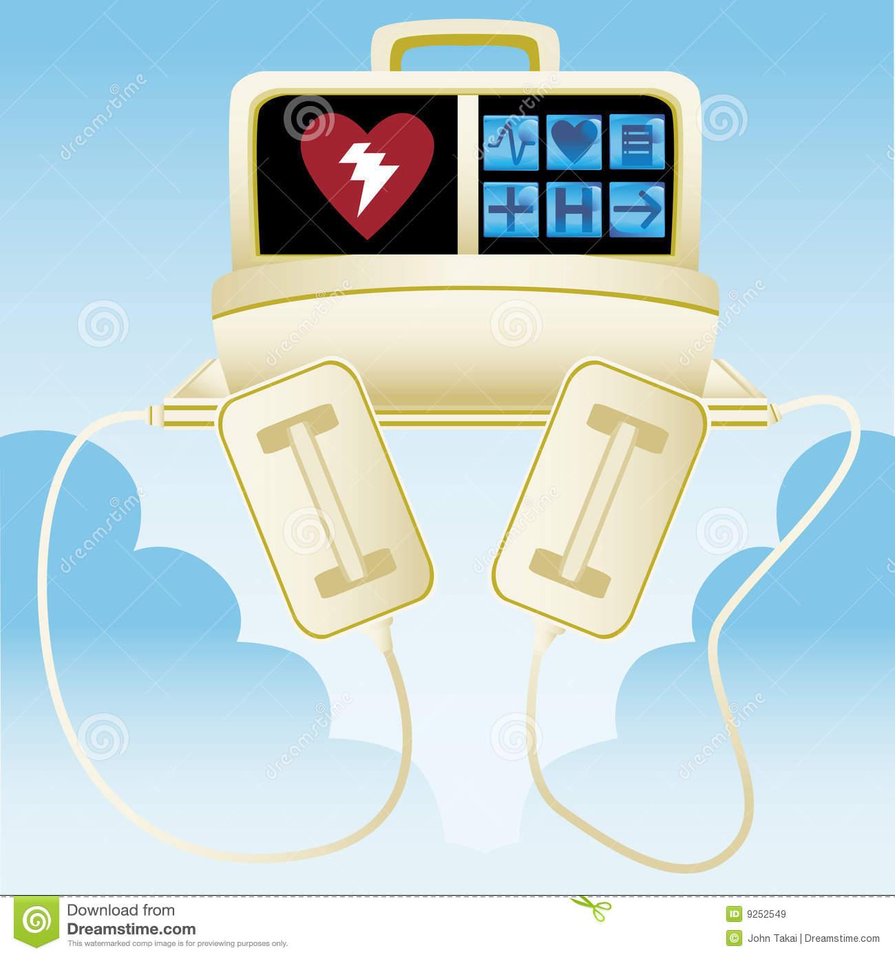 Heart Defibrillator Clip Art.