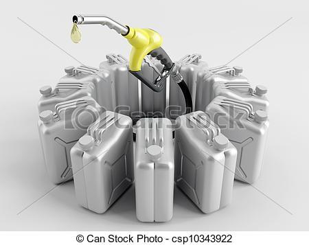 Clip Art of Deficiency of fuel.
