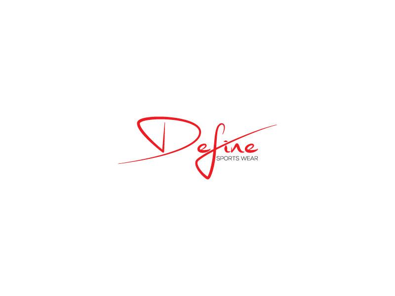 Elegant, Playful, Fitness Logo Design for Define Sports Wear.