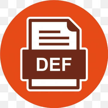 Def File Document Icon, Def, Document, File PNG and Vector with.