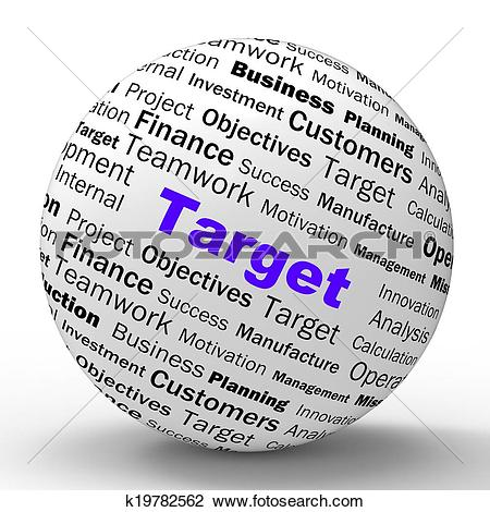 Clip Art of Target Sphere Definition Means Business Goals And.