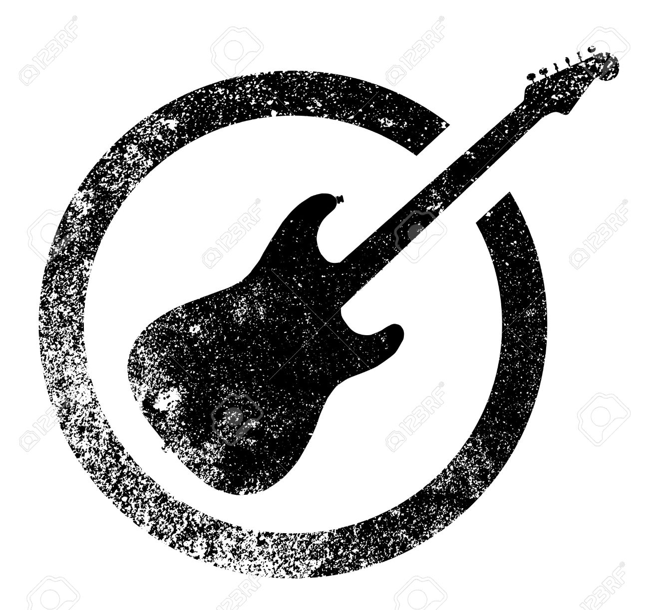 Rock And Roll Clipart Black And White.
