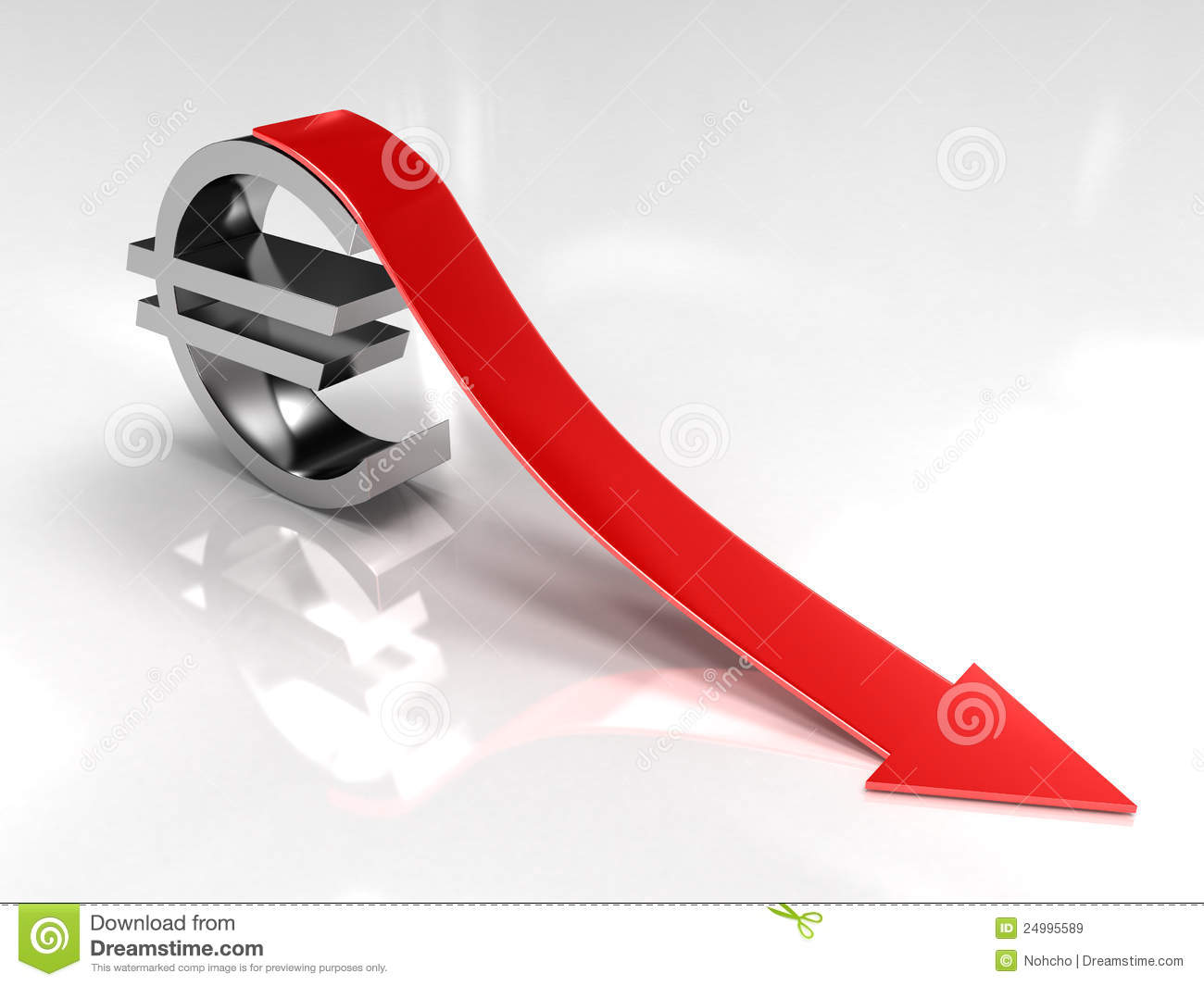 Deflation Stock Photo.