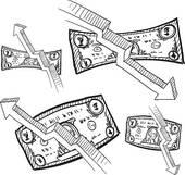 Deflation Clip Art.