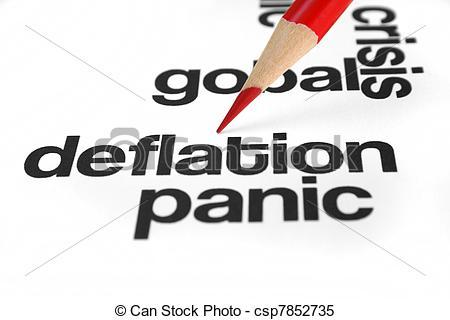 Stock Illustrations of Deflation.