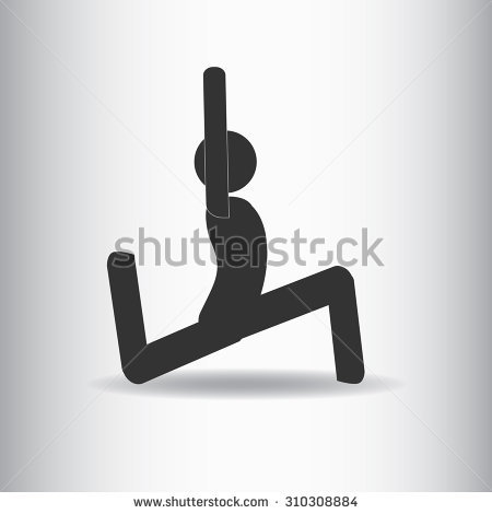Vector Stick Man Yoga Pose. Dove Pose..