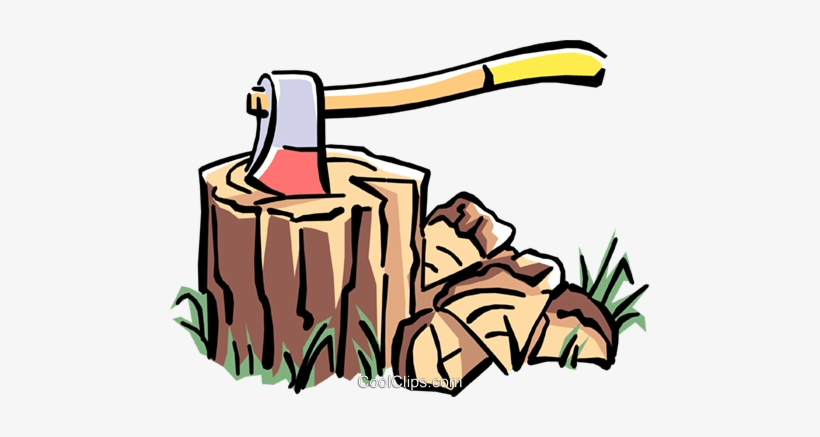 Axe Royalty Free Vector Clip Art Illustration.