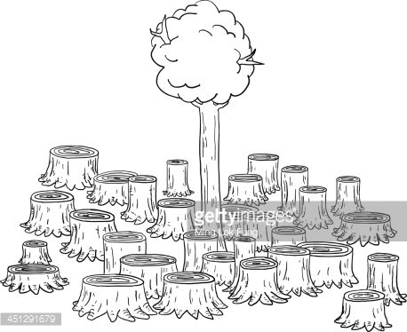 Deforestation Illustration premium clipart.