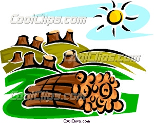 Effects of deforestation clipart.