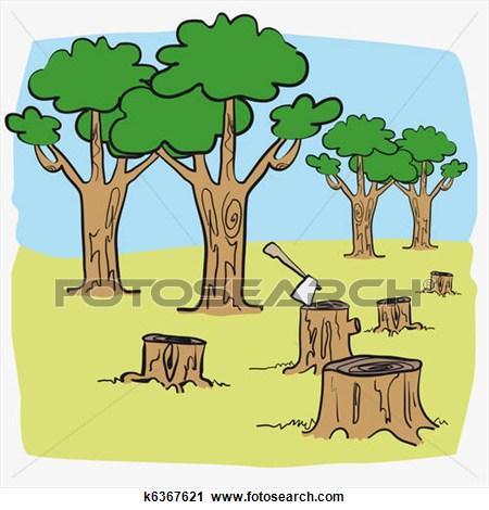 Deforestation Clipart.