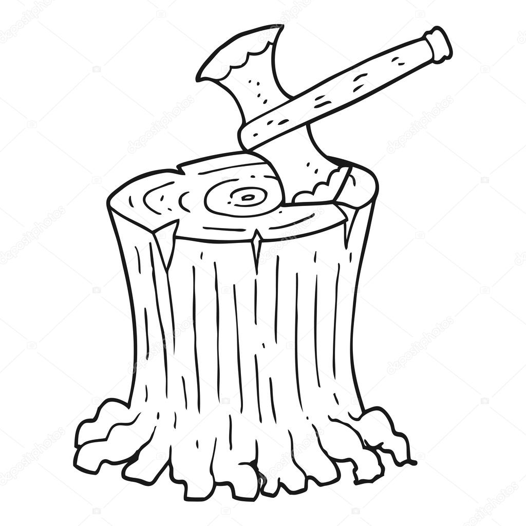 Clipart: axe black and white.