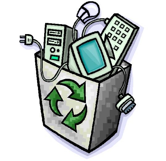 Non biodegradable materials clipart.