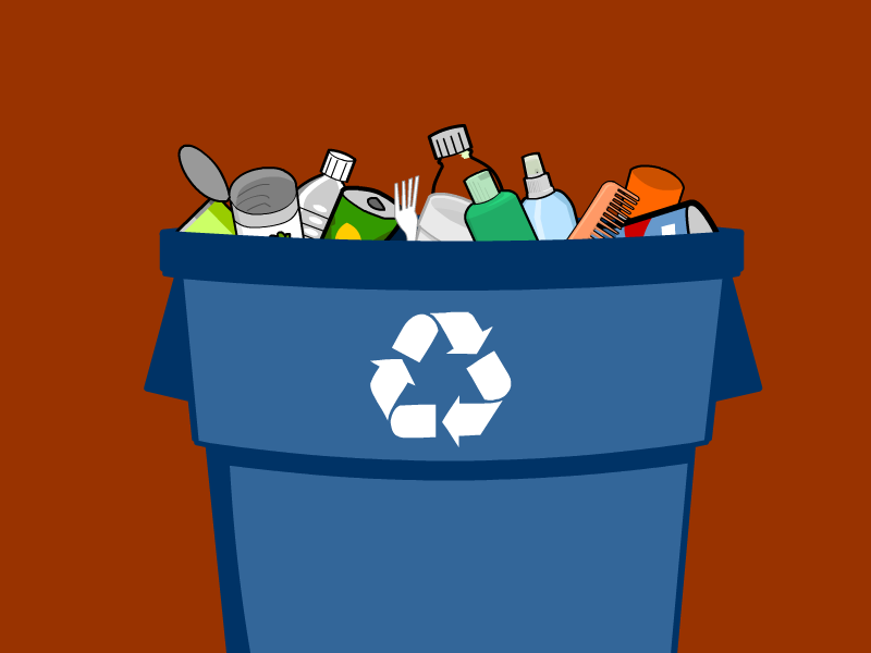 Non recyclable waste clipart #8
