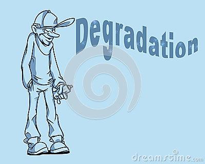 Degradation clipart.