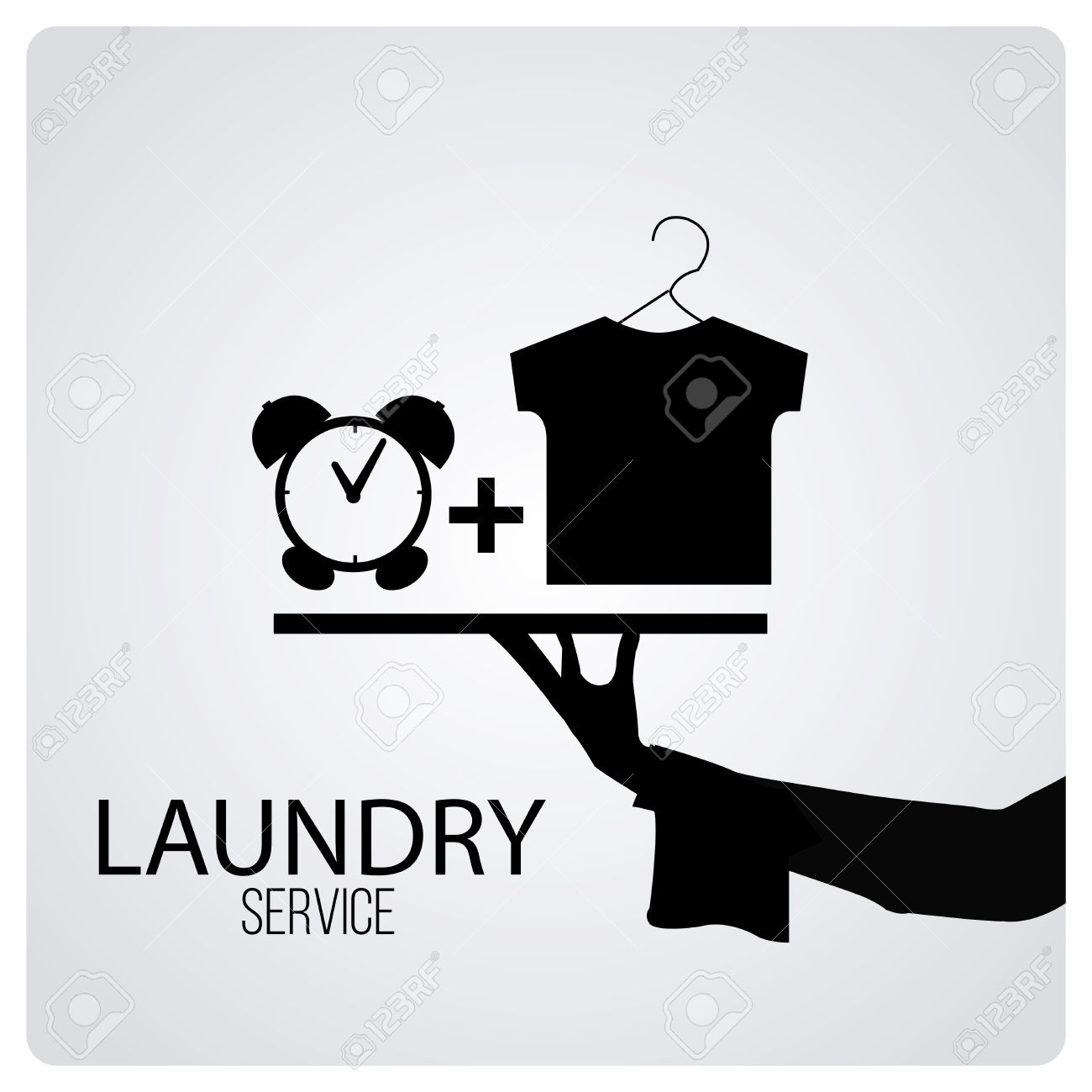 Laundry Service Over Degrade Color Background Royalty Free.