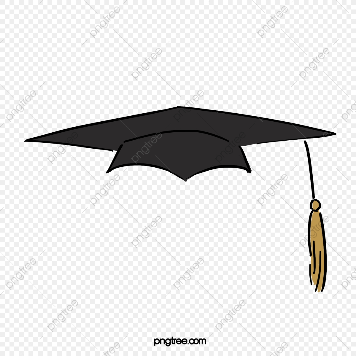 Black Bachelor Cap, Black, Bachelor Cap, Bachelor Degree PNG.