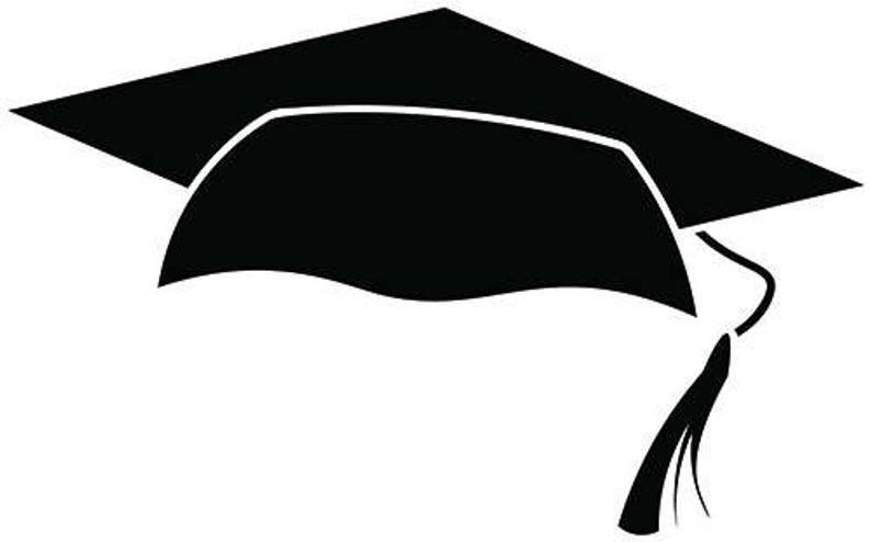 Graduation Cap #1 Tassel High School College Diploma Degree Education  Graduate .SVG .EPS .PNG Digital Clipart Vector Cricut Cut Cutting File.