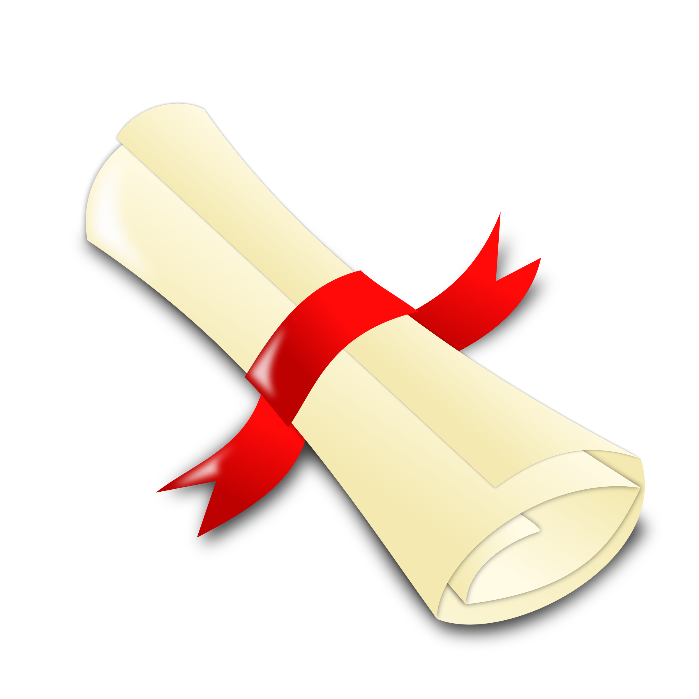 Graduation Certificate Rolled Clipart.