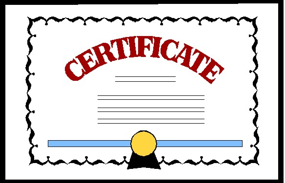Degree certificate clipart.