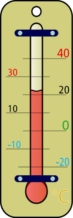 Thermometer Black And White Clipart.