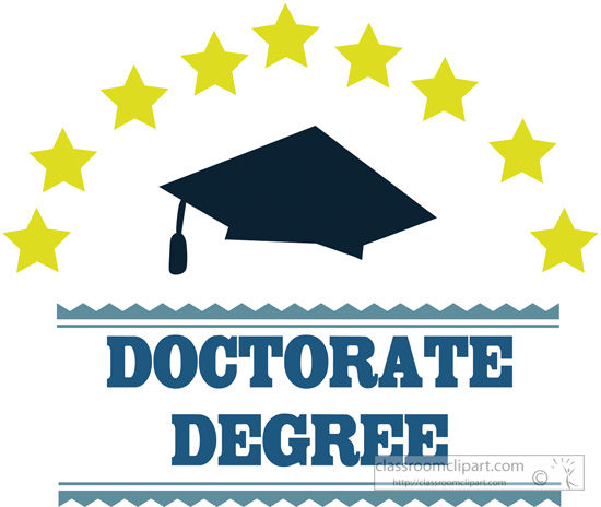 Doctorate degree clipart.