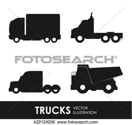 Clip Art of truck deign k22124256.