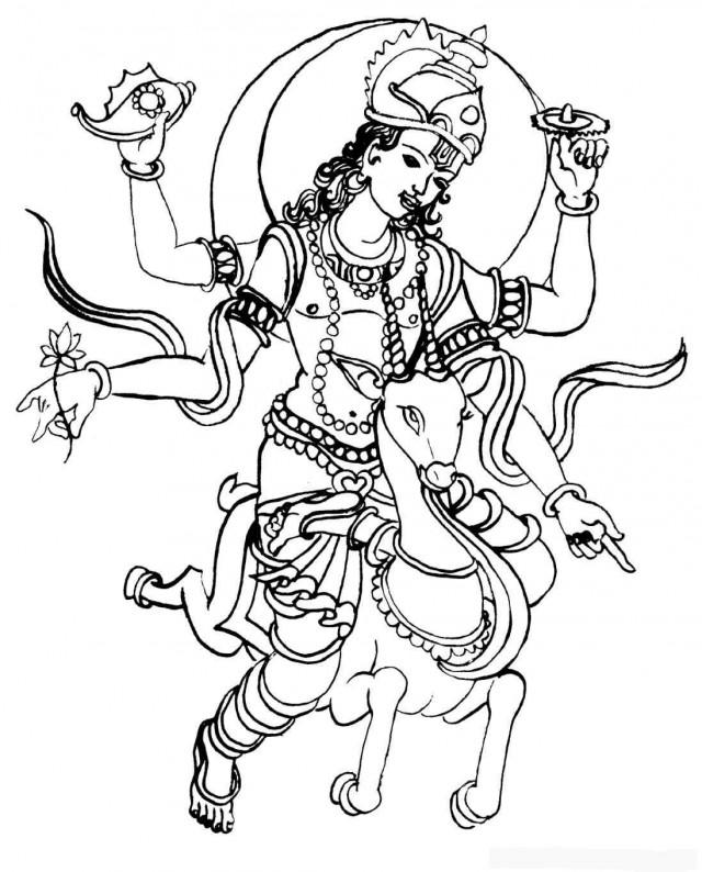 Deities of Hinduism Clip Art.