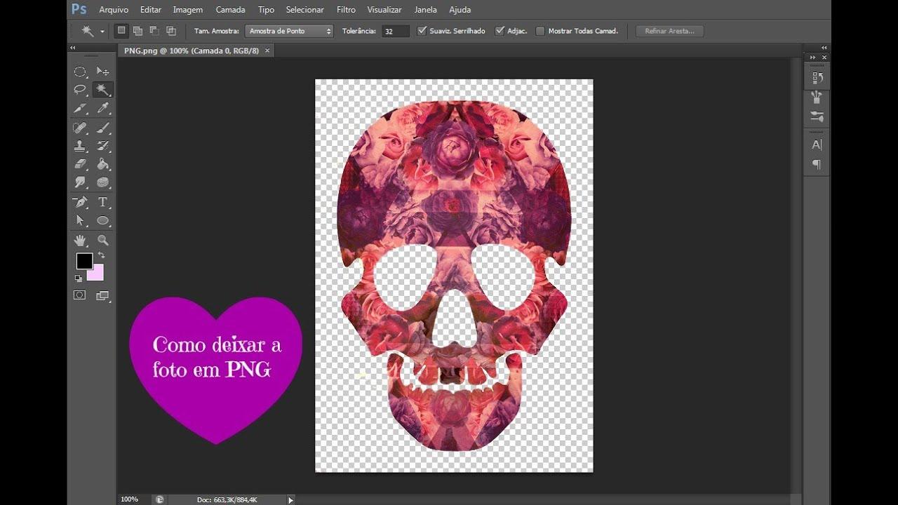 ♥ Como deixar uma imagem em PNG ♥ Photoshop CS6.
