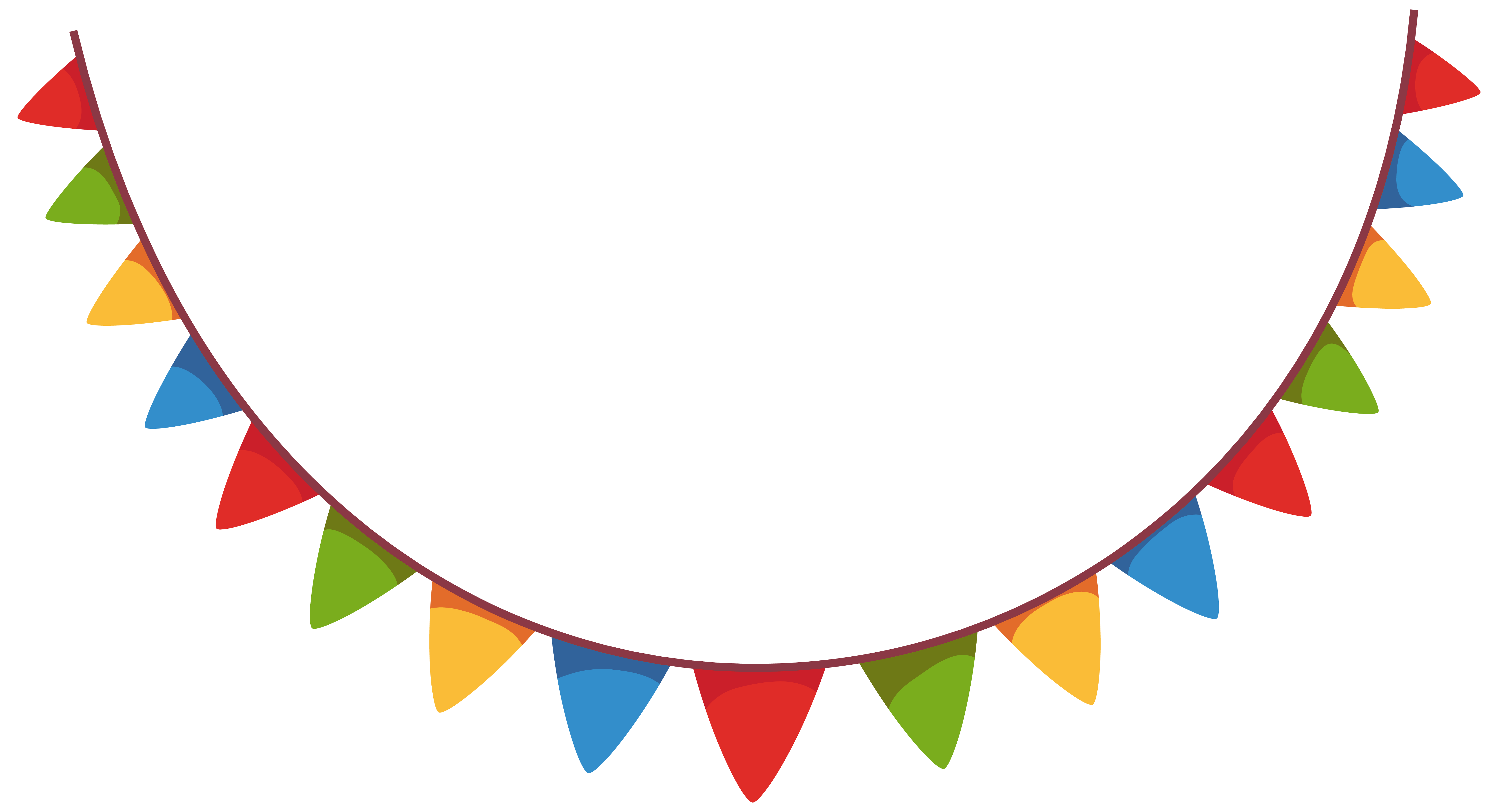 Party Streamer Decoration PNG Clipart Picture.