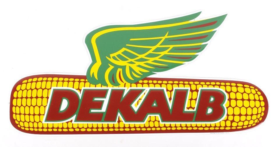 Dekalb Seed Flying Corn Cob Tin Advertising Sign.