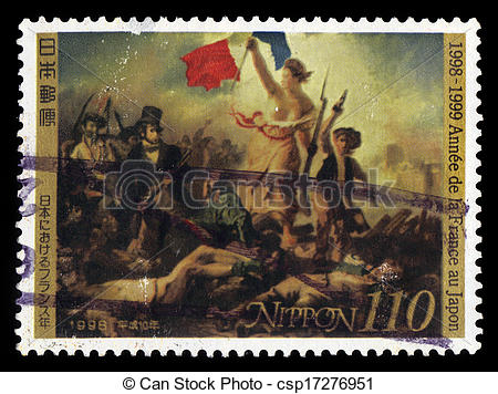 Stock Images of Eugene Delacroix, Liberty Leading the People.