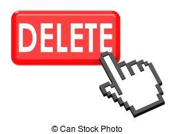 Delete button and cursor Illustrations and Clip Art. 184.