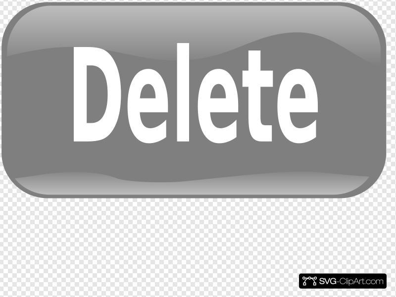 Delete Button Clip art, Icon and SVG.