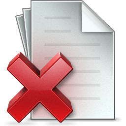 Document Delete Icon.
