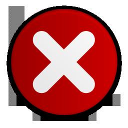 Del, delete, remove icon.