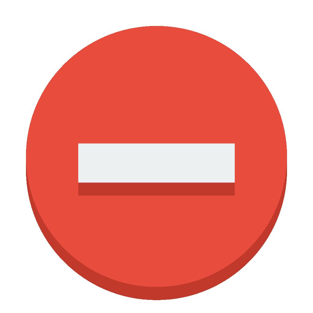 Sign delete Icon.