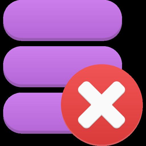 Data delete Icon.