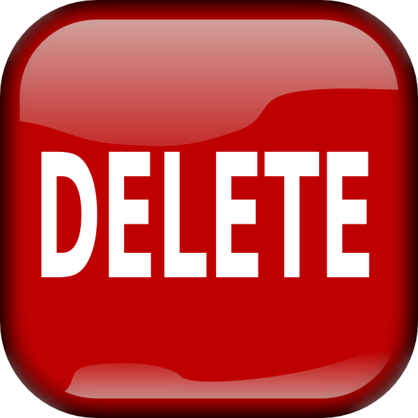 Red delete button png #28554.