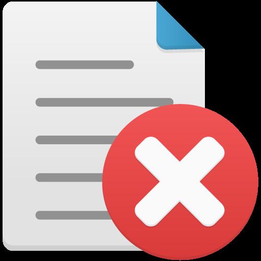 Delete file Icon.