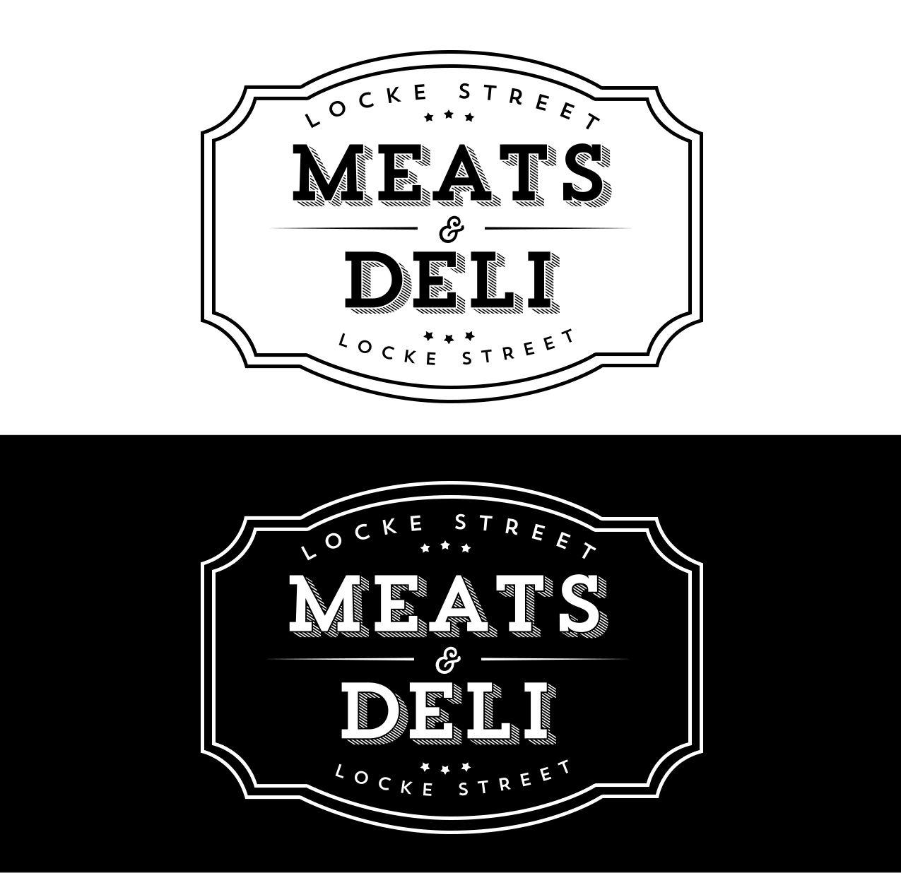 Locke Street Meats & Deli Logo Design.