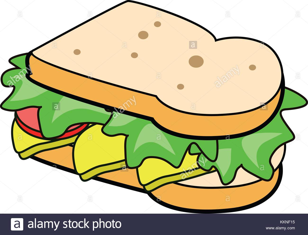 deli meat sandwiches icons Stock Photo: 167044561.